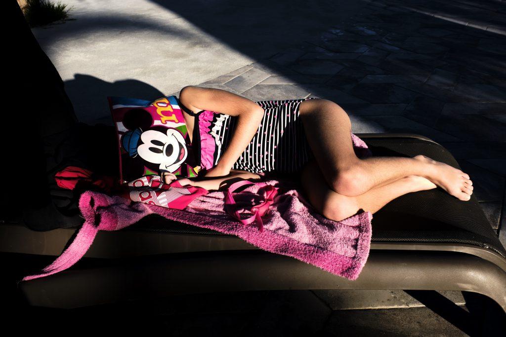 street photo sleeping